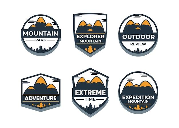 Esplora il set di simboli mountain advanture