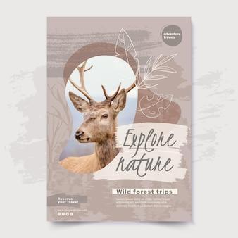 Esplora il modello di poster della natura