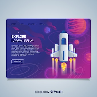Explore rocket landing page