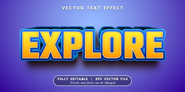 Explore text effect with editable text style