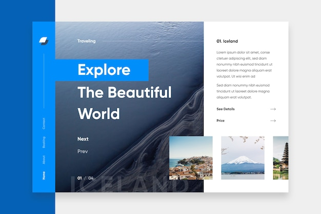 Исследуйте океан целевую страницу