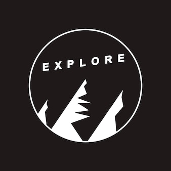 Explore travel graphic icon concept