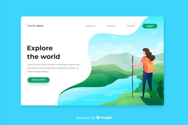 Explore the world adventure landing page