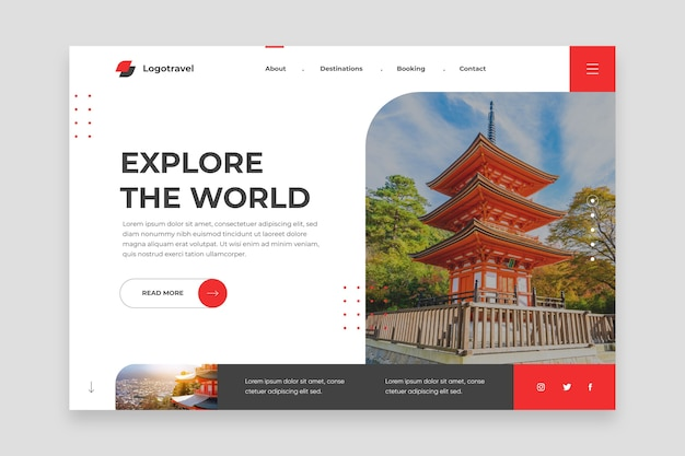 Explore the world landing page