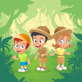 Explorer Kids in the Jungle
