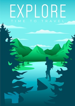 Exploring travelling poster design illustrated