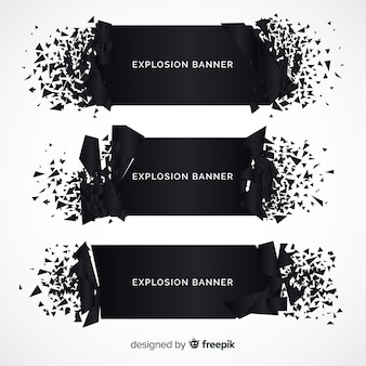 Explosion banner collection