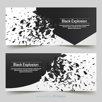 Explosion banners