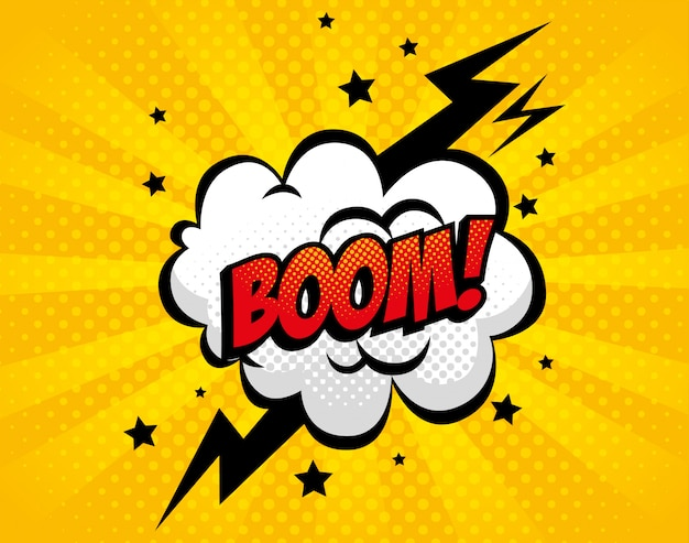 Explosion boom pop art style