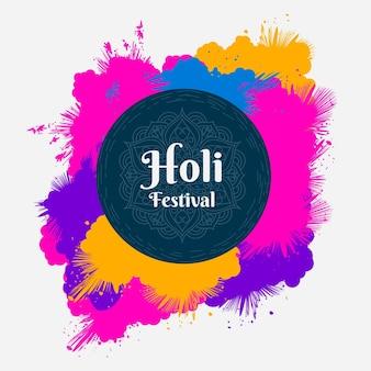 Explosion of colours holi festival