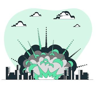 Иллюстрация концепции взрыва