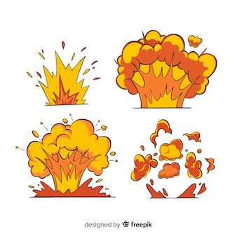 Explosion effect collection cartoon design