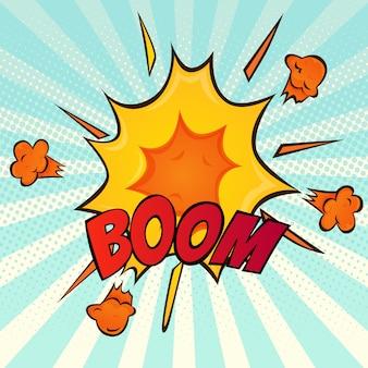 Explosion retro comic cartoon icon