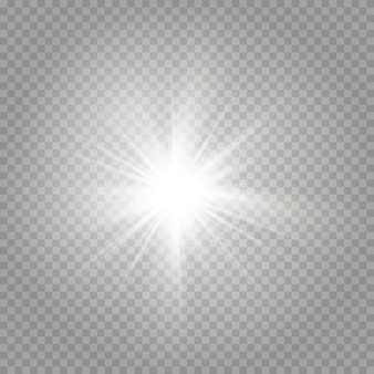 The explosion of a shining star and shining glare