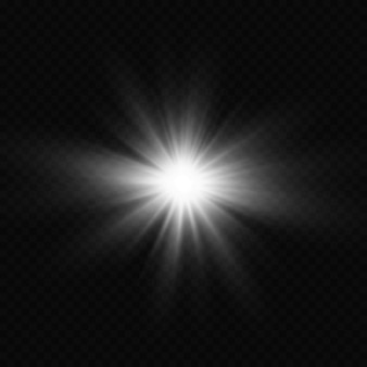 Взрыв солнца. сияющая звезда. эффект свечения.