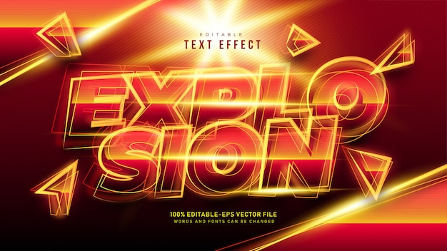 Explosion text effect
