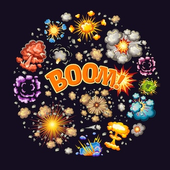 Explosions effects round design