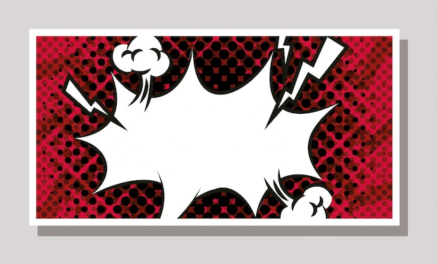 Expresion splash in pop art style