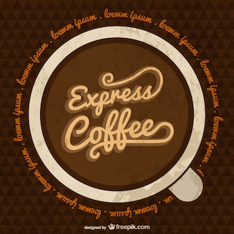 Express coffee template