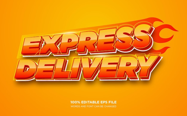 Express delivery3d編集可能なテキストスタイル効果