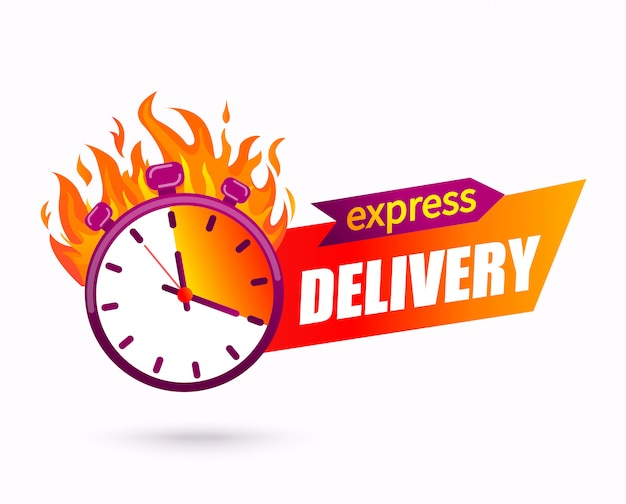 Express delivery concept. symbol of fast parcel and other shipping service for websites and apps.