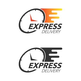 Экспресс-концепция доставки. смотрите значок для обслуживания, заказа, быстрой и бесплатной доставки. современный дизайн.
