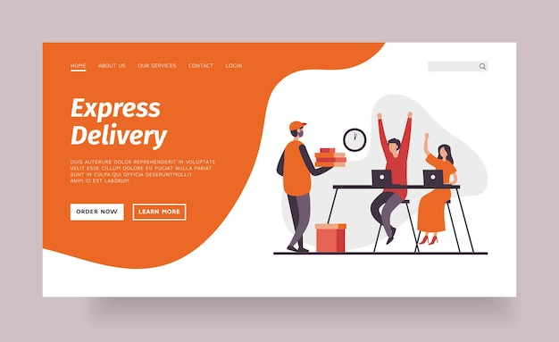 Express delivery landing page template