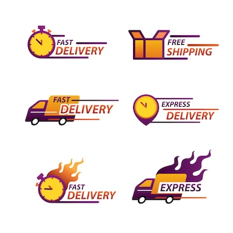 Express delivery logo for apps and website. delivery concept.
