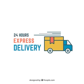 Express delivery logo template