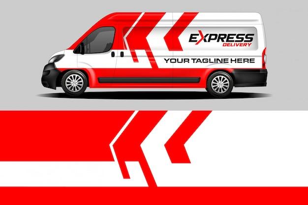 Express delivery van wrap