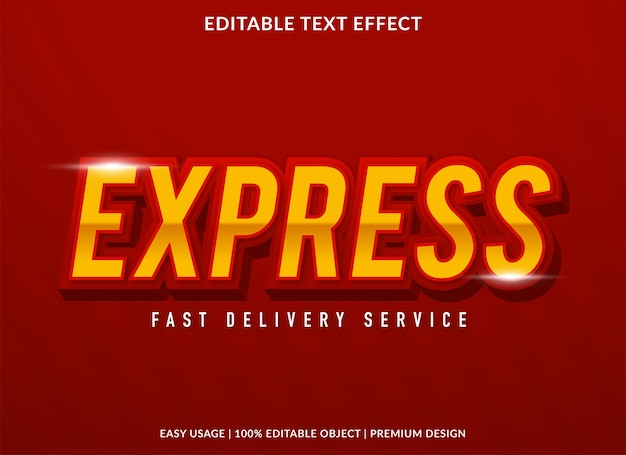 Express editable text effect template
