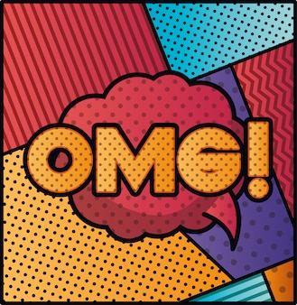 Expression bubble with omg pop art style