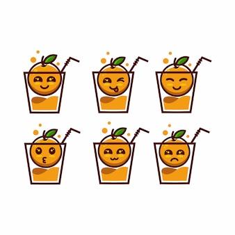 Expression orange mascot character cartoon