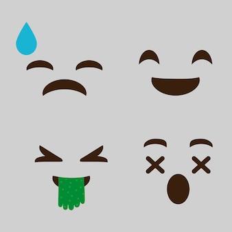 Expressions cartoon faces