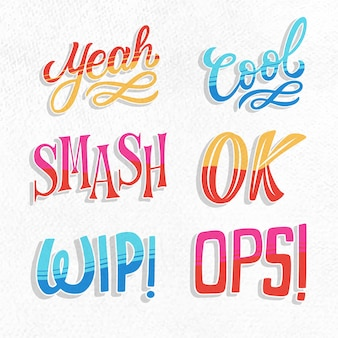 Expressions lettering retro collection