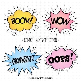 漫画の要素の表現