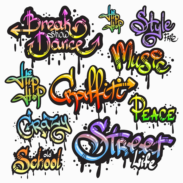 graffiti vectors photos and psd files free download rh freepik com graffiti vector font graffiti vector font