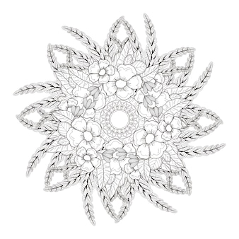 黒と白の絶妙な曼荼羅パターンデザイン