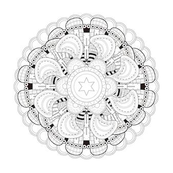 흑백의 절묘한 만다라 패턴 디자인