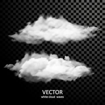 透明な背景に絶妙な白い雲のコレクション