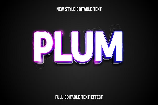Ext effect 3d plum color white and blue pink
