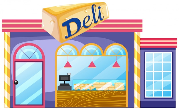 Exterior of deli shop