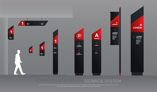 Exterior and interior signage concept corporate identity