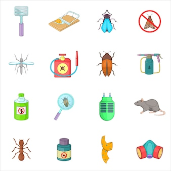 Exterminator icons set