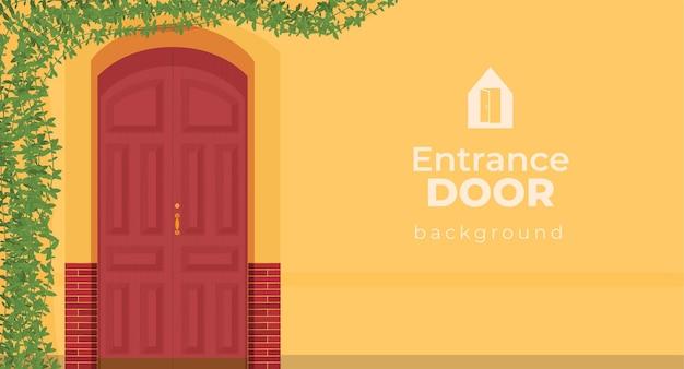 Внешний вход с дверью в фасад дома
