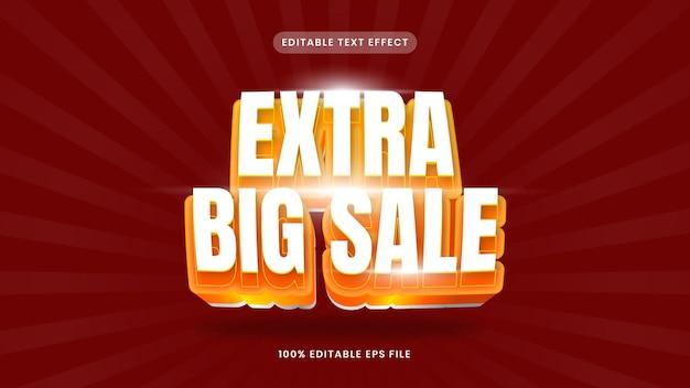 Extra big sale editable text effect