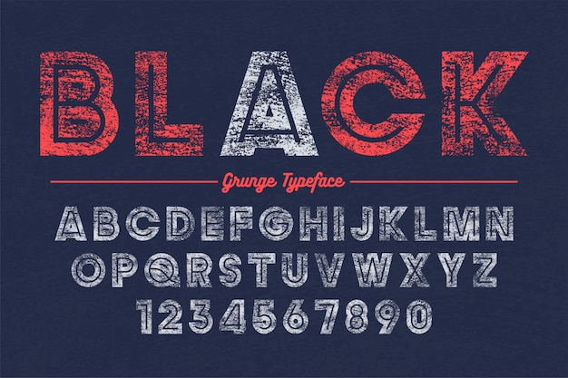 Extra bold vector decorative bold font design, grunge, alphabet,