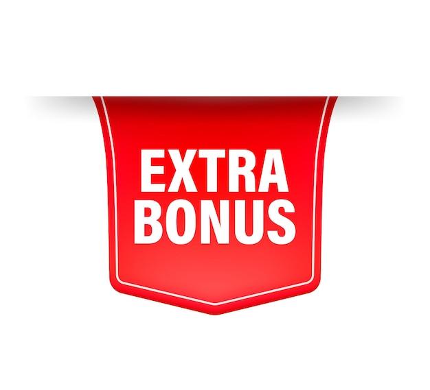 Extra bonus. realistic red ribbon.