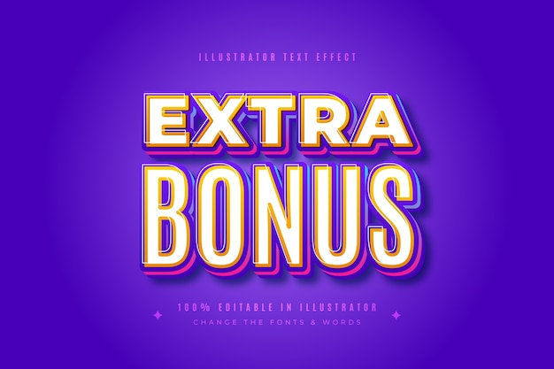Extra bonus text effect