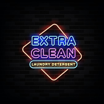 Extra clean neon signs